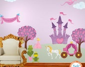 Princess Wall Decals for Girl Room - Free Personalization