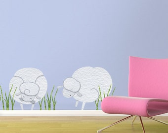 Sheep Wall Sticker Decals for Baby Nursery or Kids Room (stk1101)