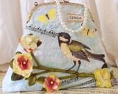 Romantic bag shabby chic purse bird handbag by Tatter and Wild