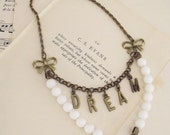 Dream charm necklace romantic shabby chic jewelry