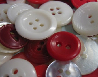 DeStash,  Red and White Buttons