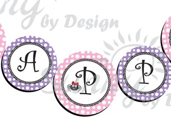 Itsy Bitsy Spider printable party Banner
