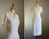 Vintage 1940s Buttered Popcorn Dress .. Size XXS