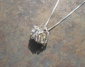 Love Knot Silver Wrapped Swarovski Heart Necklace