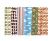 custom listing for Sabeena Tang - FABRIC DESTASH - printed cotton fabric boy bundle x3