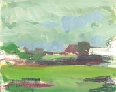 January morning, 2008 - original Galilee abstract landscape painting, Shirley Kanyon