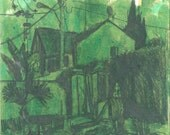 As green as it gets - original urbanscape drawing, Shirley Kanyon