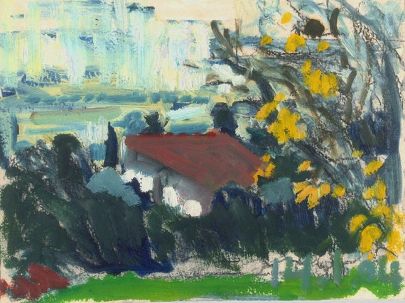 January morning, 2004 - original Galilee landscape painting, Shirley Kanyon