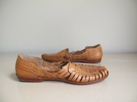 mens huarache sandals leather