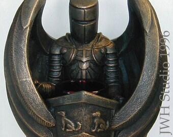 A Knight's Vigil candleholder by Jay W. Hungate - gothic romance