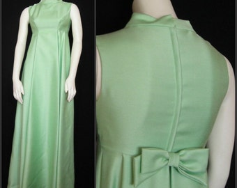 Vintage 60s Emma Domb Evening Gown - Classic Double Mint Jackie O Gown