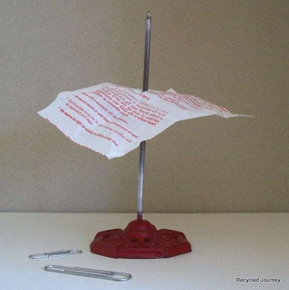 Vintage Paper Spike Receipt Post