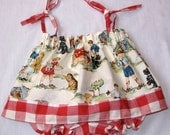 Vintage Charm Baby Dress and Matching Bloomers FREE SHIPPING