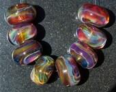 Tuscan Garden Handmade Boro Lampwork Glass Bead Set Beads by Christina Burkhart