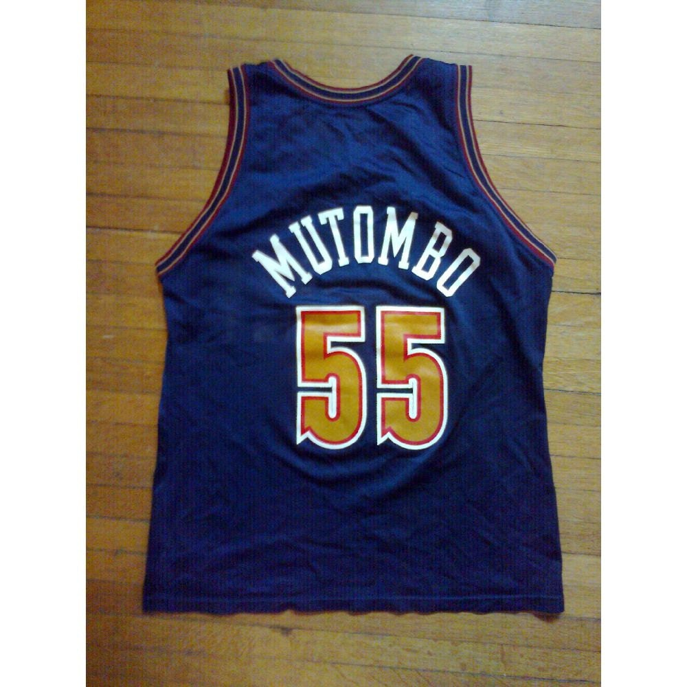 Vintage Dikembe Mutombo Denver Nuggets Jersey No. 55 By