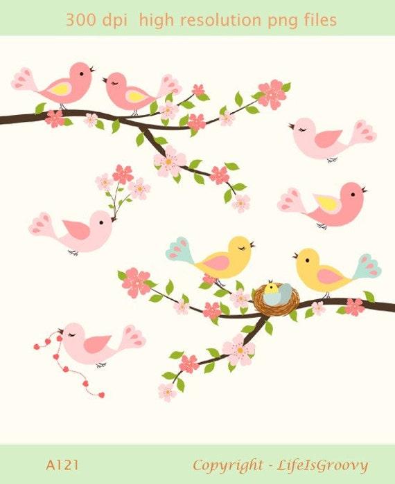 Love Birds Spring Flowering Cherry Tree