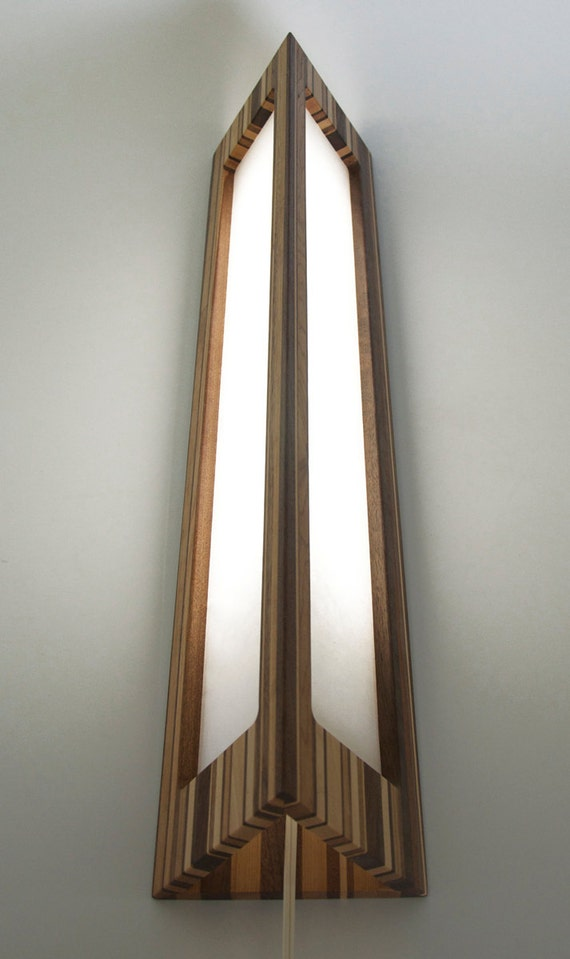Upcycled Wooden Lamp With Japanese Paper By Mitztakahashi