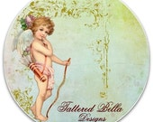 Vintage Angel and Elegant Floral Shabby Style Etsy Shop Banner and Avatar set by Tattered Bella