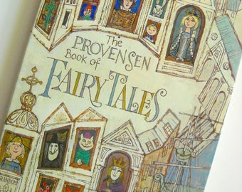 1970s Childrens Book Provensen Book of Fairy Tales Signed Copy