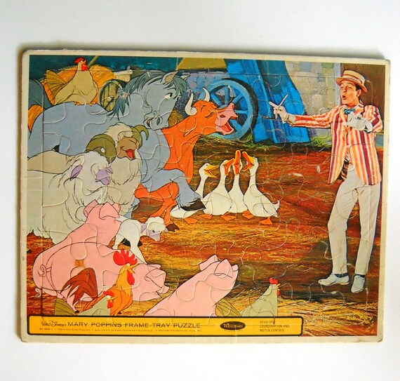 Vintage Mary Poppins Puzzle 1960s with Dick Van Dyke
