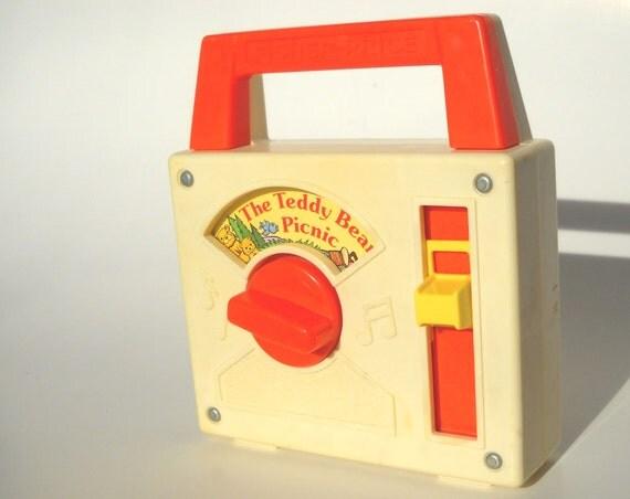 Fisher Price Music Box Radio Teddy Bears Picnic Vintage 80s