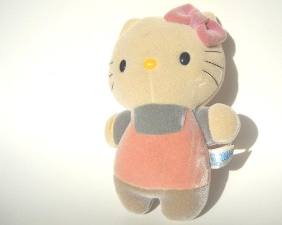 Hello Kitty Stuff Toys : Vintage s hello kitty plush bath toy rare