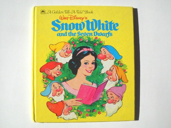 Vintage Snow White Book 1950s Illustrations