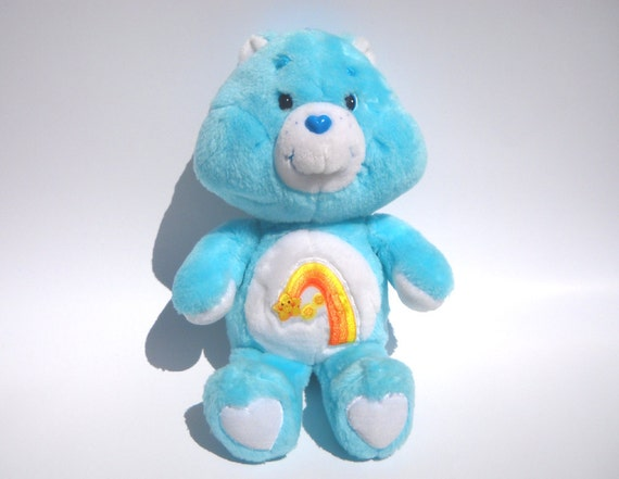 Vintage Wish Bear Plush: 1980s Care Bear by Kenner
