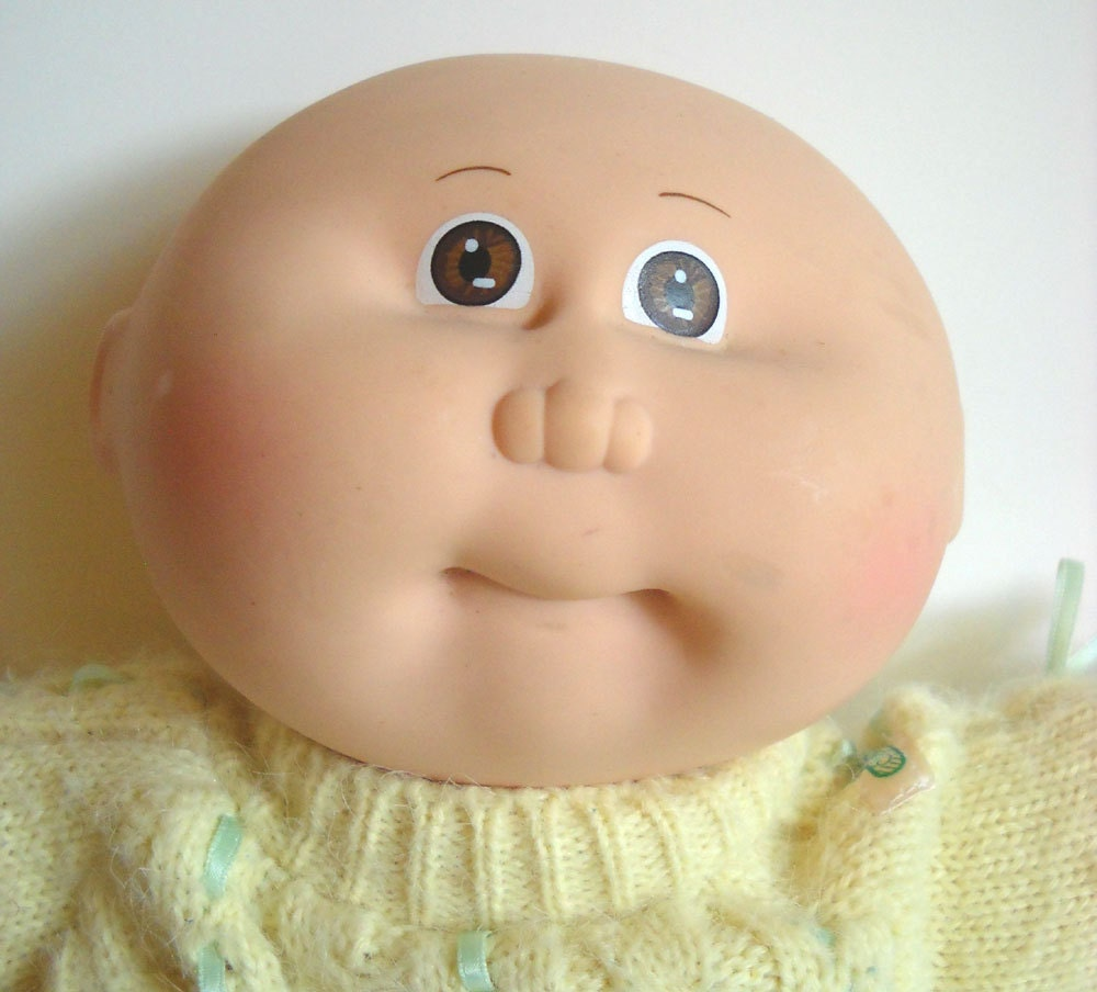 Cabbage patch doll 1980s vintage bald preemie