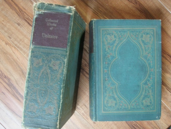 1927 • VOLTAIRE • 8 Volumes in 1 • Candide, Princess of Babylon, Study of Nature