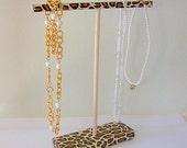 Leopard Necklace Holder Organizer Display Stand