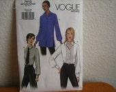 Vogue Pattern 7613 Misses' Shirt And Tie  2002  Uncut