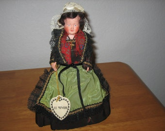 Vintage French Celluloid Doll Le Minor