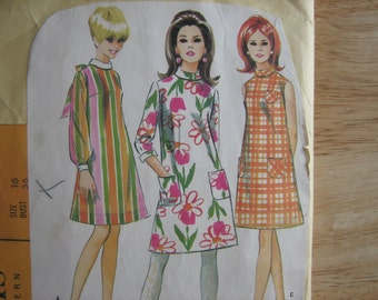 Vintage McCALL'S  Pattern  8645  Misses' Dress in Three Versions     1960's