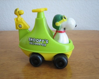 Vintage Peanuts Snoopy's Helicopter with Woodstock  1965  Hong Kong