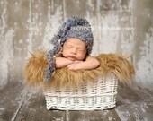 Baby Boy Crochet Hat Swirl Tail Photography Prop Ready Item
