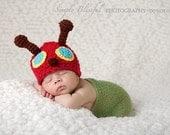 Baby Boy Crochet Hat Caterpillar Beanie Photography Prop