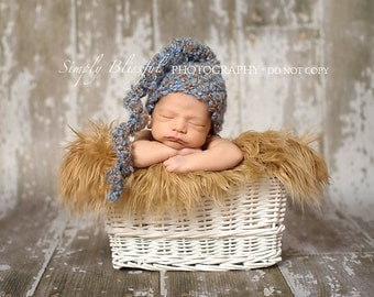 Baby Boy Crochet Hat Swirl Tail Photography Prop Ready Item