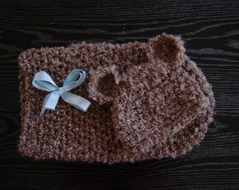 The Snuggy Bear Cocoon and a Beanie Set Photography prop