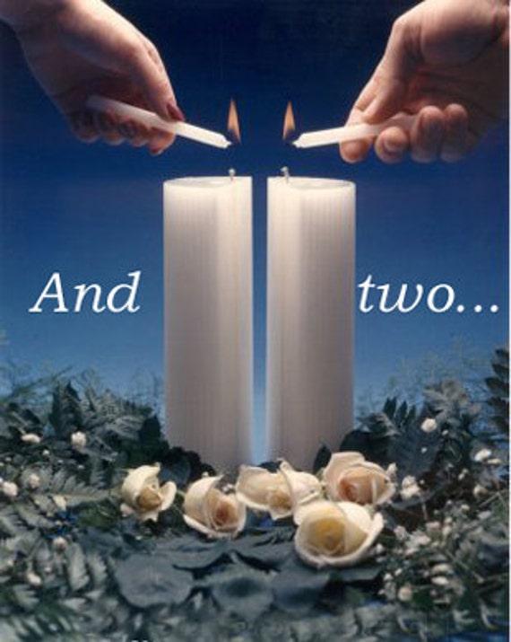 BiUnial Wedding Candle - WHITE or IVORY