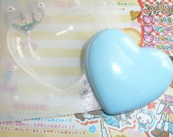 Extra Large Puffy Heart Clear Soft Flexible Casting Resin No Release Needed Mold Jewelry Soap Fimo Sculpey Resin Air Dry Paper Clay Cabochon