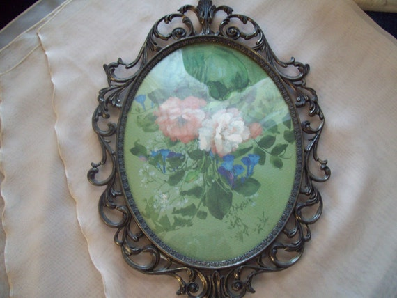Antique Picture Frame With Beveled Glass