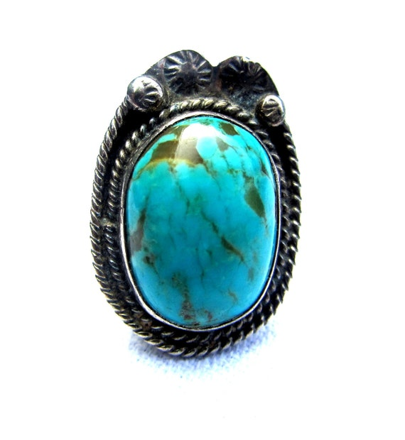 Vintage Turquoise Ring - Size 6.5