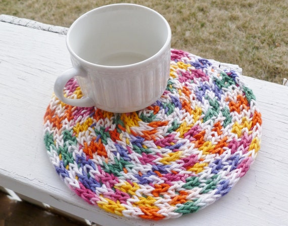 SALE...50% Off Cotton Trivet Eco-friendly hand knit