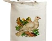 Retro Pigeon Bird Eco Friendly Canvas Tote Bag (id0113)