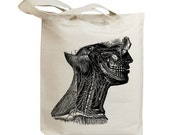 Neck Anatomy Vintage Eco Friendly Canvas Tote Bag (id5512)