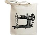 Retro Sewing Machine Vintage Eco Friendly Canvas Tote Bag (idb0022)