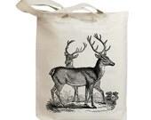 Retro Deers Vintage Eco Friendly Canvas Tote Bag (idb0013)