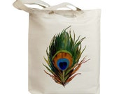 Retro Bird Feather 01 Vintage Eco Friendly Canvas Tote Bag (idb0005)