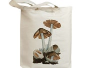 Mushroom 44 Vintage Eco Friendly Canvas Tote Bag (ixp044)